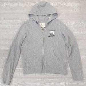 gef gray zip up hoodie Varsity